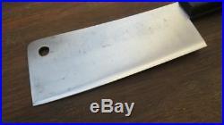BEAUTIFUL Vintage HENCKELS Chef's Carbon Steel Meat Cleaver Knife RAZOR SHARP