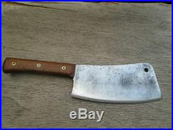 BIG Antique F. DICK Butcher/Chef's Carbon Steel Meat Cleaver Knife RAZOR SHARP