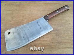 BIG Antique F. DICK Butcher/Chef's Carbon Steel Meat Cleaver Knife VERY SHARP