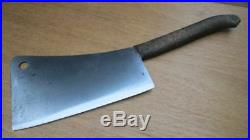 BIG Antique FOSTER BROS. Fishmonger/Butcher's Meat Cleaver Knife RAZOR SHARP