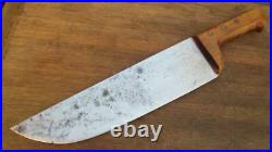 BIG Vintage PINO Italy Hand-forged Carbon Steel Chef's Butcher Knife RAZOR SHARP