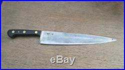BLEMISHED Antique Wusthof Carbon Steel Chef Knife withRAZOR SHARP 12 Blade