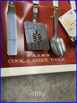 BS9 RARE! Vintage NEW in orginal box Ekco Flint cook & serve kitchen utensil set