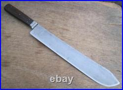 Beautiful HUGE Antique RUSSELL Green River Works Chef's Bolstered Butcher Knife