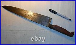 Big 17.5 SABATIER Acier Fondu Antique Chef Knife 12 Blade Modified Handle