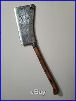 Big 30 Vintage Foster Bros #12 Beef Hog Splitter USA Butcher Cleaver Chef Knife