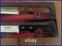 Brand New Discontinued Spyderco Yin Yang Kitchen Knives Plain & Serrated Edges