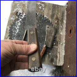 Butcher Lot Of 3-Foster Bros -No 8 Vintage Meat Cleaver -Knife & Steel No RESV