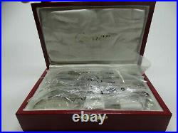 Cartier Set of 6 Tea Spoon In its Box Excellent Condition FREE SHIPPING