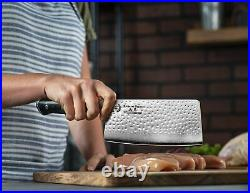 Cleaver Butcher Knife 7 inch Tp Quality Heavy Duty Pro Japanese AUS-10 67-Layer
