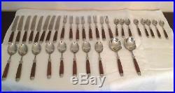 Cutlery Set Eichenlaub Solingen Vintage German 34 Piece Mint Condition