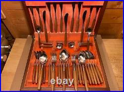 Danish 1960's Retro Vintage Cutlery Set By George Butler Of Sheffield England
