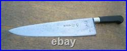 EXTRA-WIDE Antique TICHET Paris Nogent-style Carbon Steel Chef Knife RAZOR SHARP