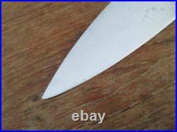 FINE Antique 1904 JA HENCKELS Germamy XXL Carbon Steel Chef Knife RAZOR SHARP