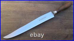 FINE Antique HERDER Germany Chef's Carbon Steel/Horn Slicing Knife RAZOR SHARP