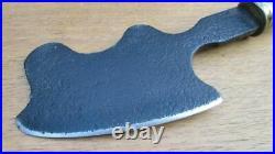 FINE Antique Italian Chef/Butcher's Carbon Steel Meat Cleaver Knife RAZOR SHARP