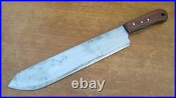 FINE Antique Italian HEAVY DUTY Chef/Butcher Carbon Breaking Knife RAZOR KEEN