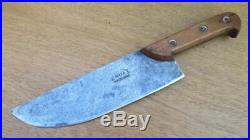 FINE Antique Portugese Chef's Hand-forged Carbon Steel Swiss-style Cleaver Knife