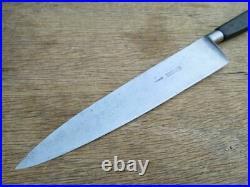 FINE Antique Pre-Sabatier Carbon Steel Chef Knife withRAZOR SHARP 9.5 Blade