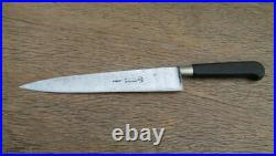 FINE Antique Sabatier Glove-logo Medium-sz. Carbon Steel Chef Knife, RAZOR SHARP