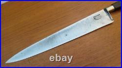 FINE Antique Sabatier NAPOLEON Nogent Carbon Steel Chef Knife RAZOR SHARP