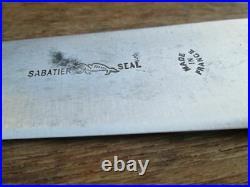FINE Antique Sabatier Seal-logo Carbon Steel Nogent Chef Knife RAZOR SHARP
