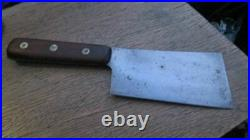 FINE Antique WILSON Sheffield Chef or Butcher's Carbon Steel Meat Cleaver Knife