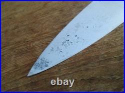 FINE Older Vintage Seelbach WIDE Carbon Steel Chef Knife Germany RAZOR SHARP