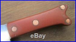 FINE Vintage Italian Chef/Butcher Carbon Steel Meat Cleaver Knife RAZOR SHARP