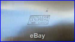 FINE Vintage LA SUPREMA Italian Heavy-Duty Carbon Steel Chef's Butcher Knife