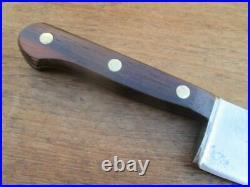 FINE Vintage Lamson 10-3/8 Carbon Steel Chef Knife withRosewood RAZOR SHARP