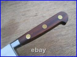 FINE Vintage Sabatier Carbon Steel Chef Knife RAZOR SHARP 9-7/8 Blade, Rosewood