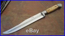FINEST Antique EL TEJON French Butcher Coup de Grace Killing Knife withBone Grips