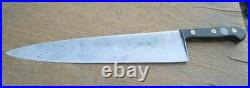 FINEST Antique F. Dick Germany 20 Carbon Steel Medallion Chef Knife RAZOR SHARP