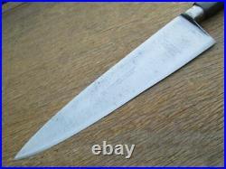 FINEST Antique HENCKELS 1904 Nogent 9.5 Carbon Steel Chef Knife RAZOR SHARP