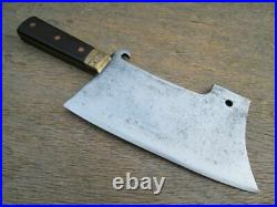 FINEST Antique Italian Chef's Brass-Bolstered Meat Cleaver/Butcher Knife WOW