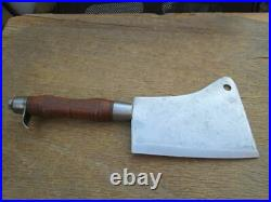 FINEST Antique PLUMB Chef/Butcher's Damascus Carbon Steel Meat Cleaver Knife