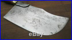 FINEST Antique Portugese Chef's Swiss-style Cleaver Butcher Knife RAZOR SHARP