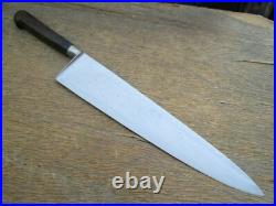 FINEST Antique Sabatier Au Ritz XXL Carbon Steel Nogent Chef Knife RAZOR SHARP