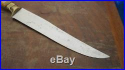 FINEST Antique WEYERSBERG Germany Carbon Steel Chef Slicing Knife withBone Handles