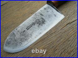 FINEST Customized Antique SABATIER Heavy-Duty Carbon Steel Sushi Chef Deba Knife