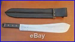 FINEST English Army Machete Dated 1955 with1945 Sheath Made by KITCHIN Sheffield