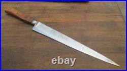 FINEST QUALITY Antique Sheffield Chef's XXL Carbon Slicing Knife RAZOR SHARP