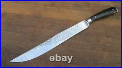 FINEST Vintage Hoffritz/Wusthof Chef's Yatagan Slciing Knife withHorn A+++ Cond