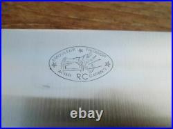 Finest UNUSED Vintage Sabatier-style RC Carbon Steel Chef Knife withHuge 13 Blade