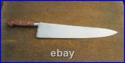 Finest UNUSED Vintage Sabatier-style RC Huge 20 Carbon Steel Chef Knife WOW