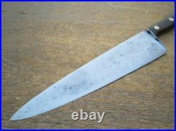 Finest XXL Antique F. DICK Germany Wider Carbon Steel Chef Knife RAZOR SHARP