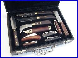 Friedr Herder Knife Collection with Custom Case