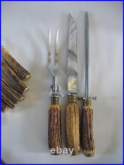 Friedr Herder Soligen Germany 15 pc flatware set forks knives Carving Sharpening
