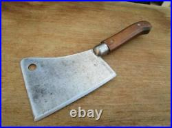 GORGEOUS Vintage Foster Bros. Chef's #6 Carbon Steel Meat Cleaver RAZOR SHARP